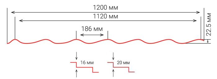 Металочерепиця Modena Схема
