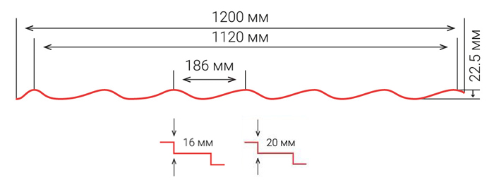 Металлочерепица Modena Схема