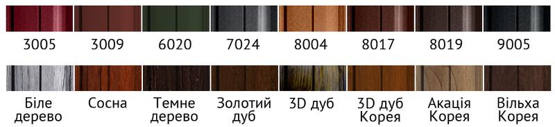Найбільш популярні кольори штахетника
